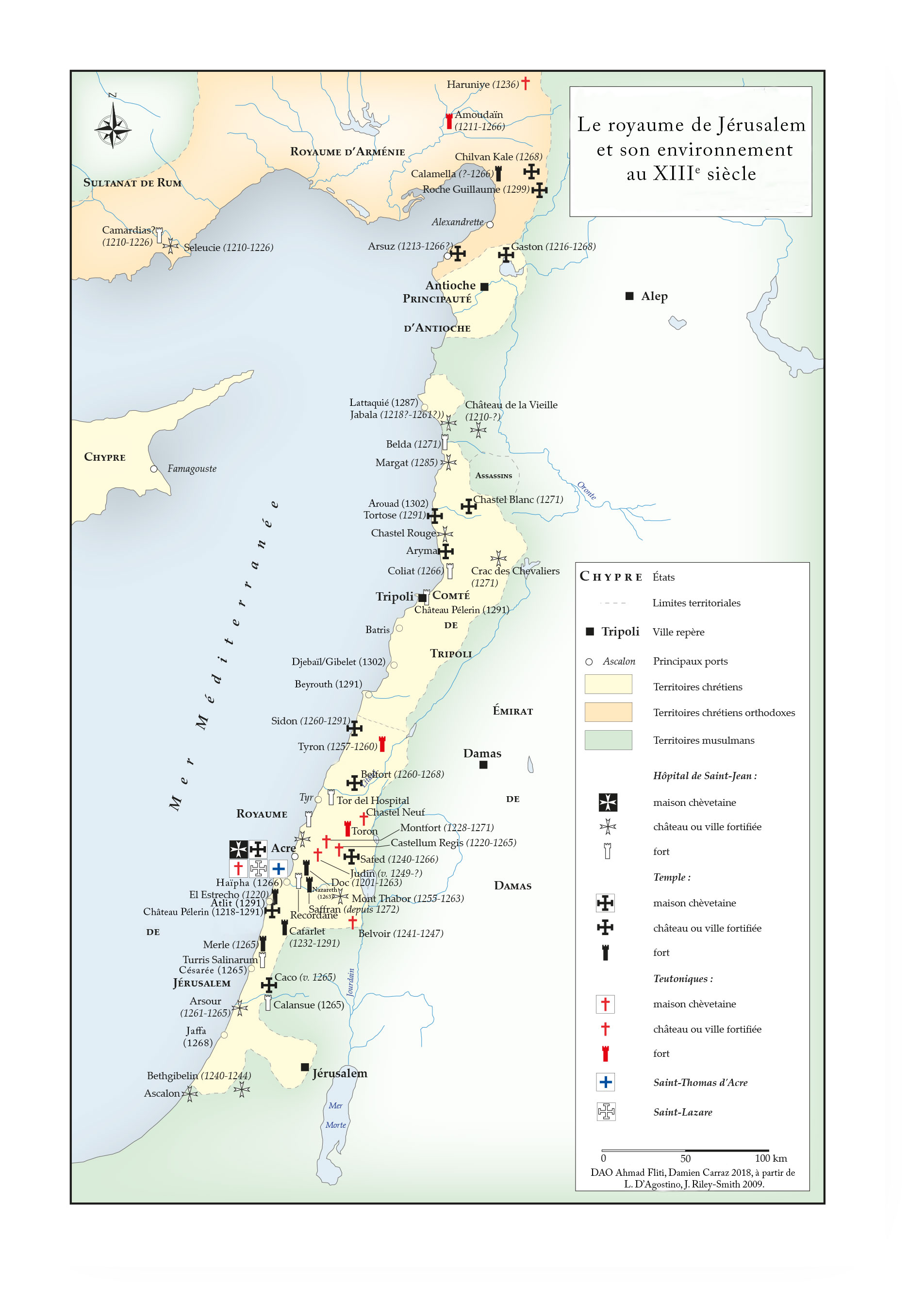 Le royaume de Jérusalem et son environnement au XIIIe siècle