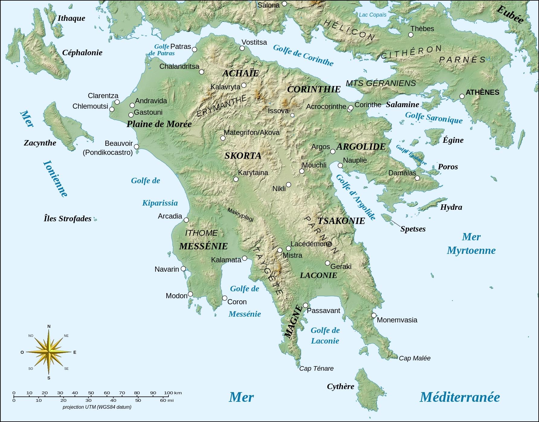 Peloponnese Morée